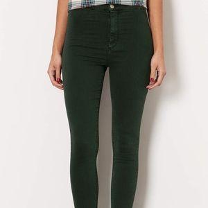 Topshop Joni jeans dark green